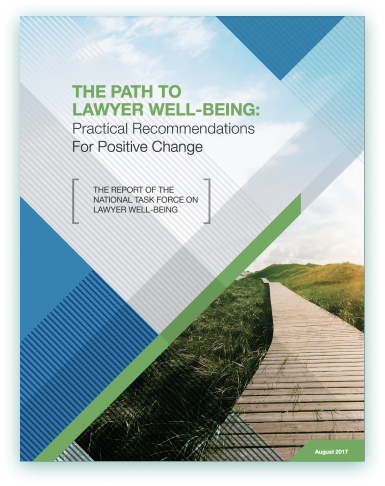 Path to Lawyer Well Being cover